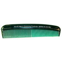 Неломающаяся карманная расчёска для бороды и усов- зелёная