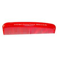 Неломающаяся карманная расчёска для бороды и усов- красная